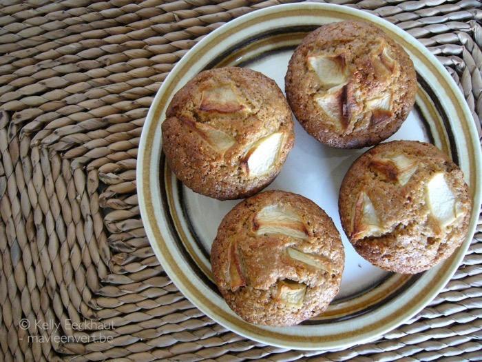 muffins met appel en rozijn