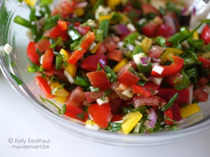 vegetarische-barbecue-salade-tomaten-paprika