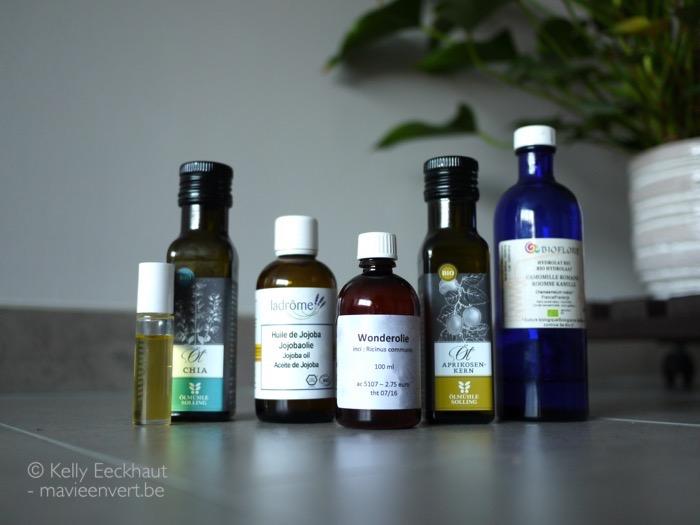 wonderolie jojoba olie chia-olie abrikozenpitolie roomse kamille hydrolaat
