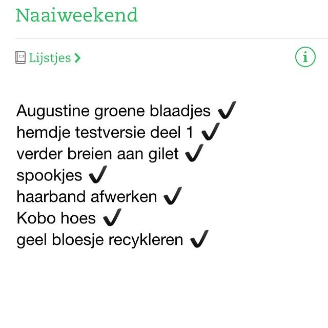 naaiweekend-lijstje