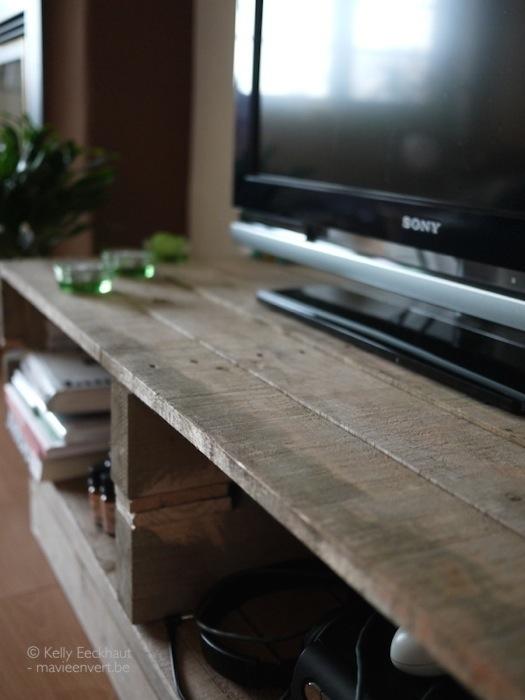 Bedwelming tv-meubel-pallet-upcycling-diy - Ma vie en vert @BF69
