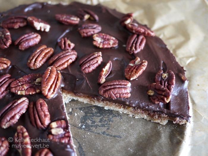 taart chocolade pecannoten