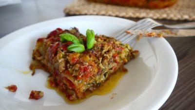 plantaardige lasagne met courgette